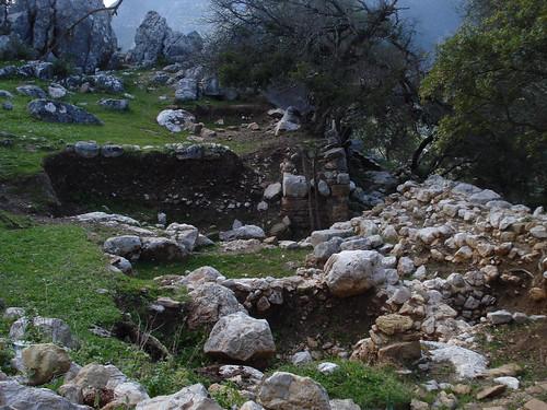 Una de las viviendas del asentamiento