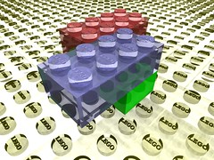Virtual Lego on a translucid floor
