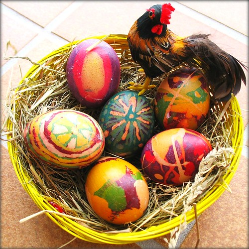 WISH  YOU  A  HAPPY  EASTER   WEEKEND -  Batik Art - Easter Eggs