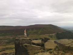 Michelle atop the Wain Stones