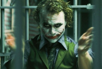 heath ledger como el joker por ti.