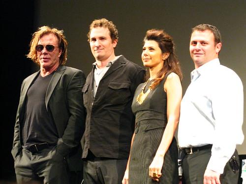 Mickey Rourke, Darren Aronofsky, Marisa Tomei, Scott Franklin