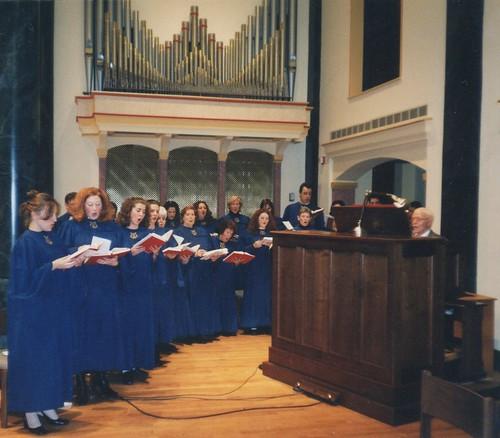 Ernie in 2001 at St. Joseph Catholic Church  in Astoria