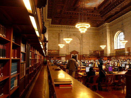 new york public library, reading room