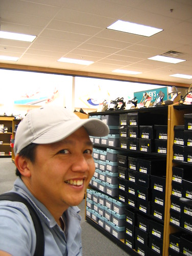 Me. Smiling at all these shoes.