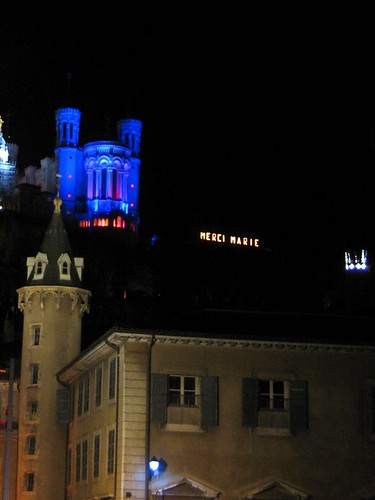 View of La Basilique and Merci Marie from below.
