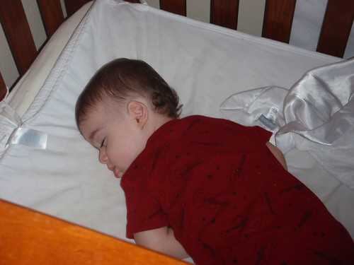 adam during his birthday nap