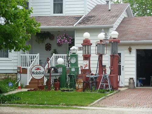 IL, Odell 19 Antique Gas Pumps