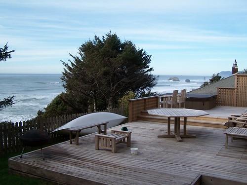 the beach house backyard