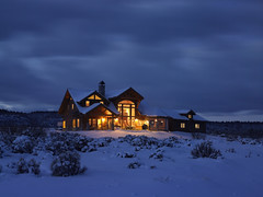 Architecture, Lindal Home in snow