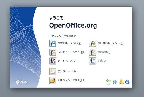 Welcome Screen on OpenOffice.org 3.0 RC1