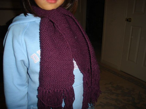 my first scarf project