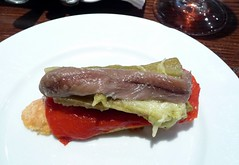 anchovy tapa with peppers