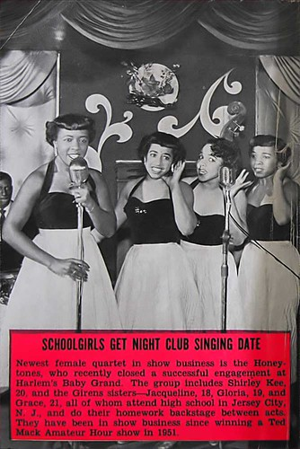 Harlem's The Honeytones - Jet Mag, Feb 18, 1954 by vieilles_annonces.
