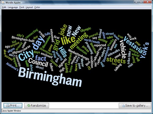 Wordle view of my blog