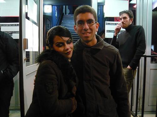 Eu e a Dominique Lenore Persi (a vocalista do Stolen Babies)