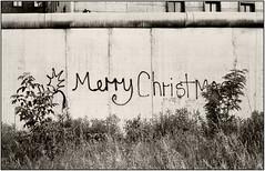 MERRY CHRISTMAS - BERLINER MAUER 1980