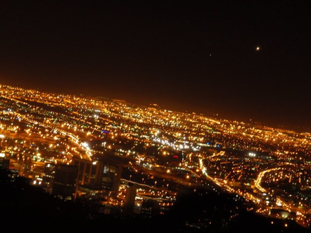 Cape Town from Signal Hill at night