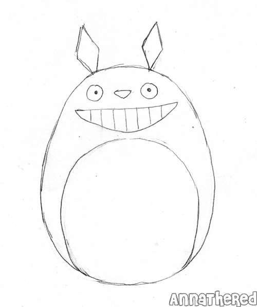 Dont worry too much about details. You just need the drawing for the basic shape of Totoro.