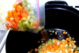 carrots, onion, celery