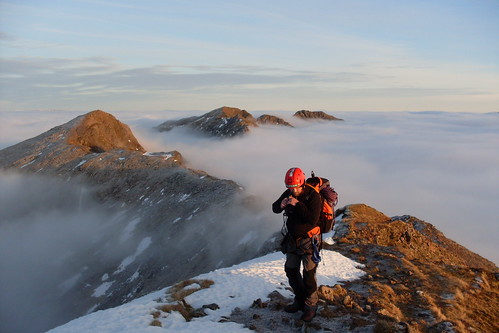 The author heading up to the last peak of the day...Sgurr nam Fiannaidh