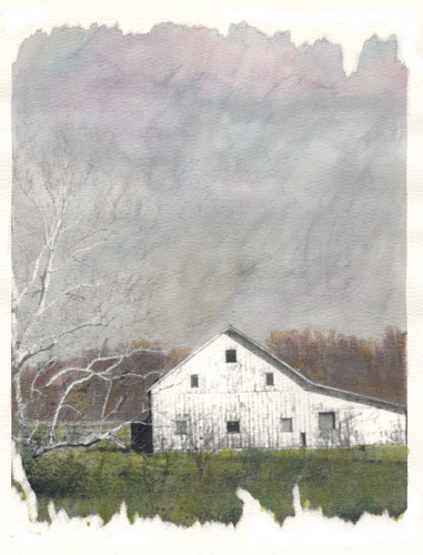 Stormy Day watercolored photo   (c) Lynne Medsker