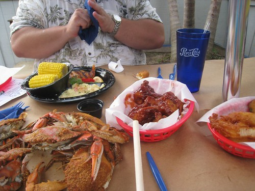 BBQ Wings, Grilled Salmon, & Steamed Crabs