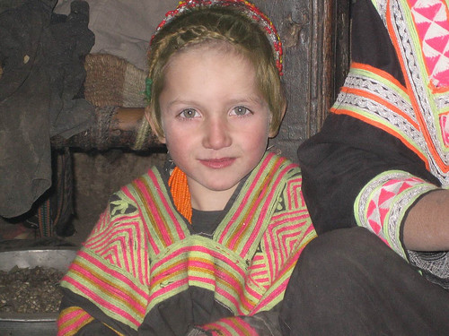 dark green eyes pakistan kalash girl
