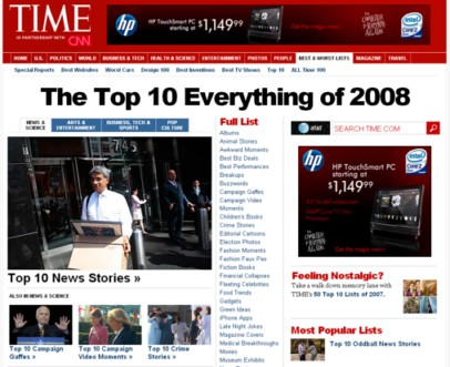 Times - The Top 10 Everything of 2008