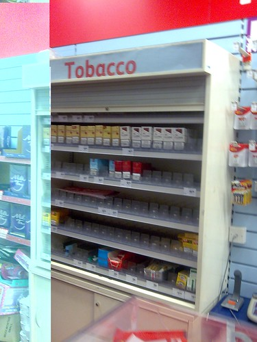 Tobacco Shelves Woolworths