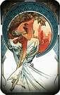 Las artes 1898, poes�a. Alphonse Mucha.