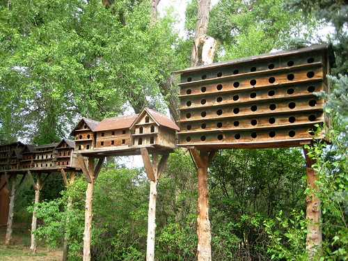 Pigeon Coops at Mabel Dodge Luhan House in Taos, NM