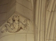Devilish figure/demoontje in de kloosterkerk v...