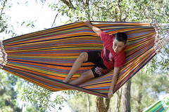 Jacob Swinging in a Hammock