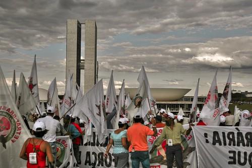 Manifestação na esplanada dos Ministerios.