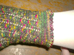 Cosmic Ripples Sock - Beaded Cuff (up)