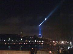 blurry night time eiffel