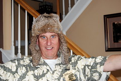 Papa is so excited about his new hat
