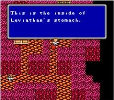 Leviathan aparece en este juego, no como invocación, sino como mazmorra. Tras devorar nuestro barco, deberemos escapar de su interior.