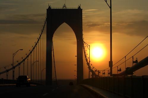 Sunset -- Pell Bridge
