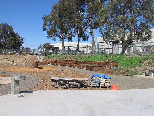 Garden boxes at the Sebastopol Skatepark & Community Garden