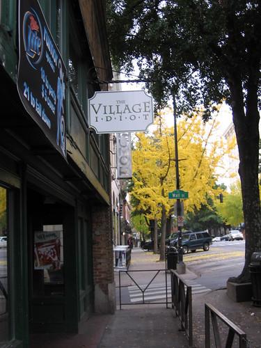 Village Idiot sign