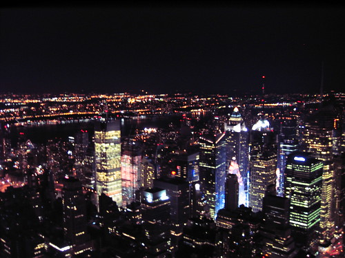 New York at night from Empire State