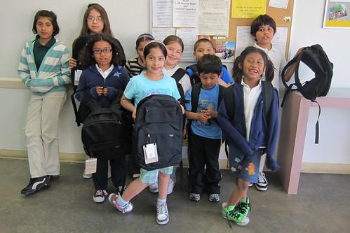 SMUM Studio kids with backpacks