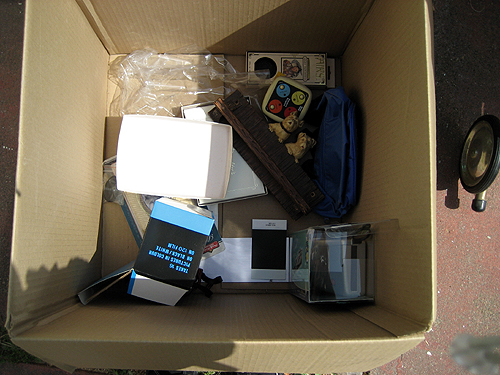 Box of unwanted items