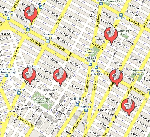 Toilet Googlemaps