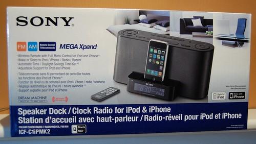 Sony Speaker Dock/Clock Radio for iPhone