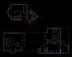 Final plans for Witch's Treehouse, in AutoCAD