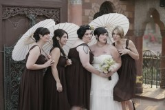 gotta love sassy bridesmaids with parasols!