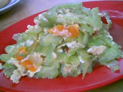 Sibu's A-Plus bitter gourd with salted eggs